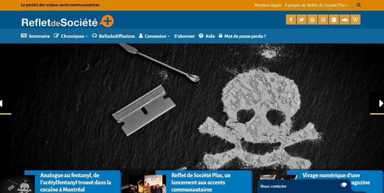 Le concepteur web à Montréal, réalisateur du portail Reflet de Société Plus